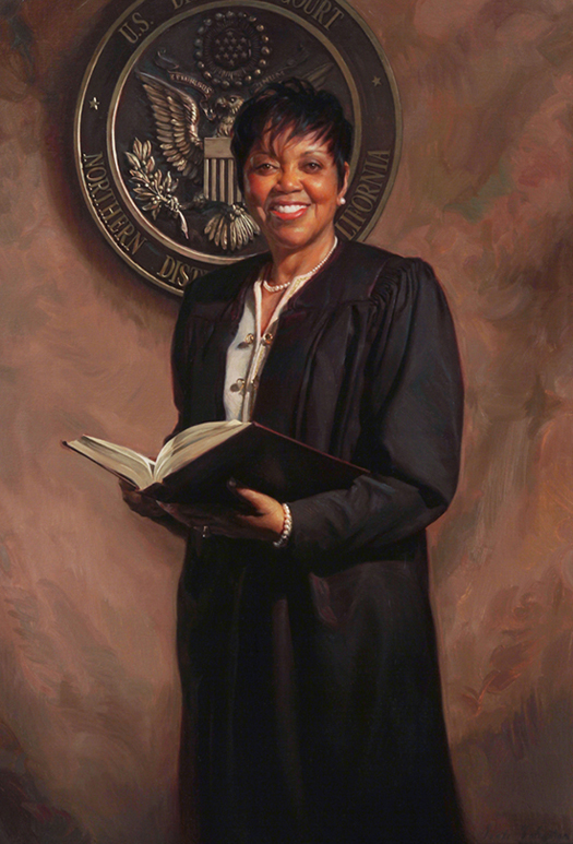 JUDGE SAUNDRA BROWN ARMSTRONG, U.S. DISTRICT COURT, CALIFORNIA - oil portrait by artist Scott Wallace Johnston