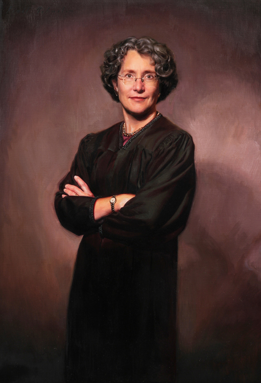 JUDGE CLAUDIA WILKEN, UNITED STATES DISTRICT COURT, CALIFORNIA - oil portrait by artist Scott Wallace Johnston