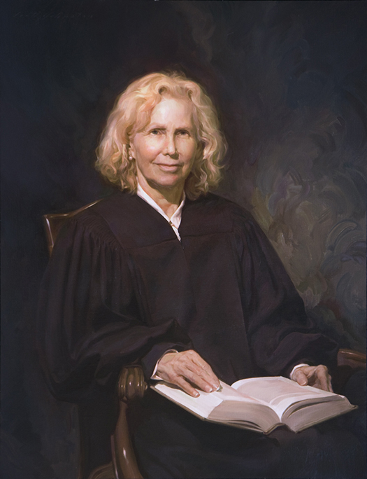 JUDGE MAXINE CHESNEY, UNITED STATES DISTRICT COURT, CALIFORNIA - oil portrait by artist Scott Wallace Johnston