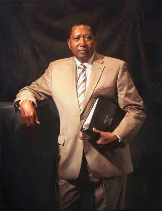 JUDGE JAMES S. WARE, UNITED STATES DISTRICT COURT, CALIFORNIA - oil portrait by artist Scott Wallace Johnston