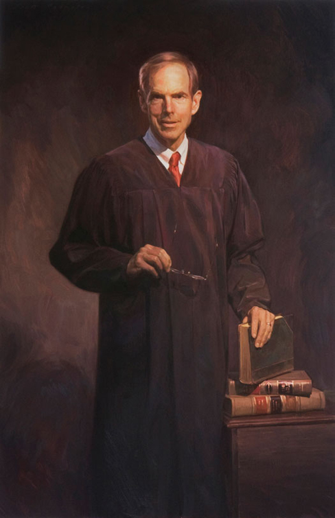 JUDGE RONALD WHYTE, UNITED STATES DISTRICT COURT, CALIFORNIA - oil portrait by artist Scott Wallace Johnston